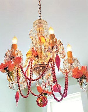 Bejeweled Chandelier (via countryliving)