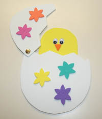Peek-A-Boo Chick  This cute Easter craft a kid favorite. Cut out your craft foam