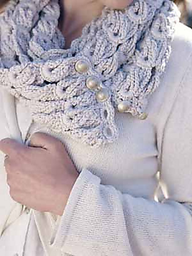 Ghost Cone Scarf pattern by Sue Perez