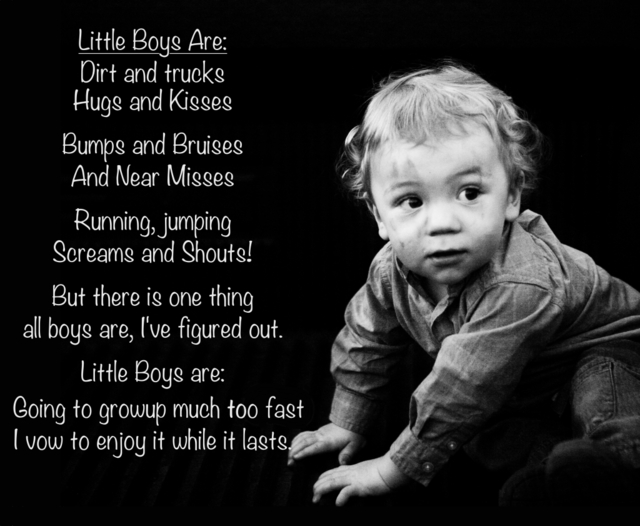 Poem about little boys written by Emmymom- poem may be used for personal use not