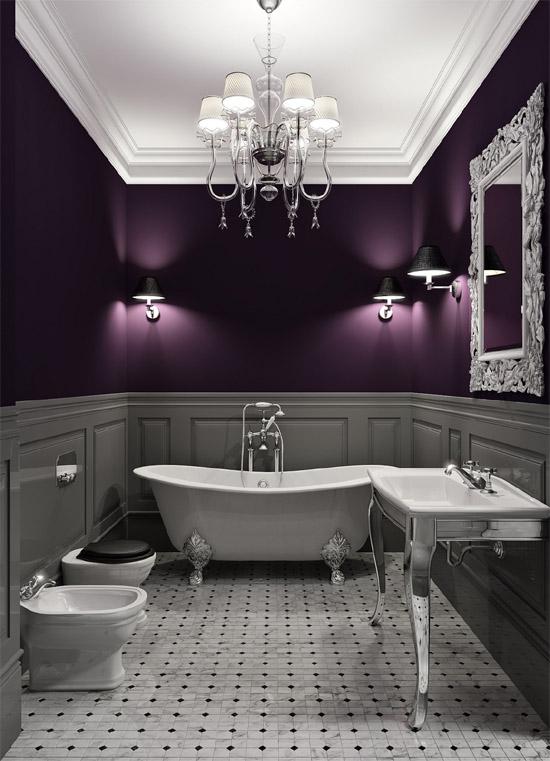 Love love love the dark purple walls