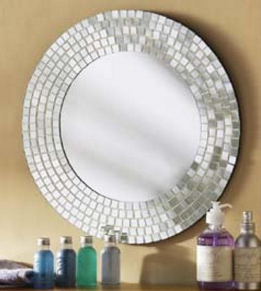 DIY Tiled Mosaic Mirrors