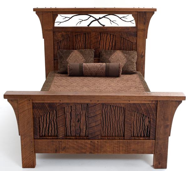 Rustic Bedroom Furniture, Log Bed, Mission Beds, Burl Wood Furnishings, Log Cabi
