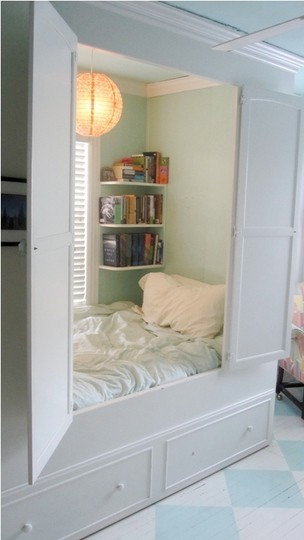 I'm thinking every girl needs one of these nooks….sound proof, hidden and