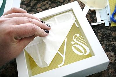 DIY Vinyl decals on Glass in Frames