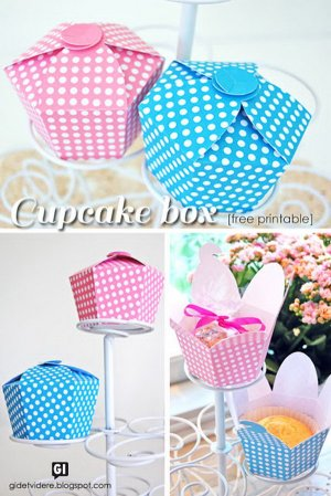 Cupcake Gift Box. See the tutorial