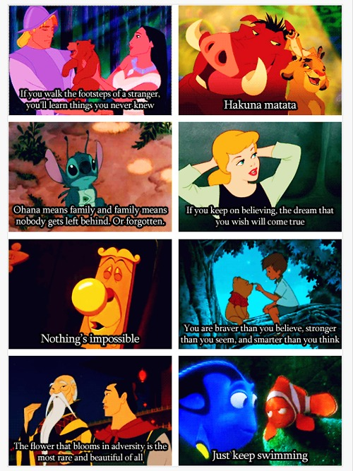 Disney knows best about the things of life