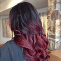 Burgundy and black ombre hair tumblr burgundy and black ombre hair