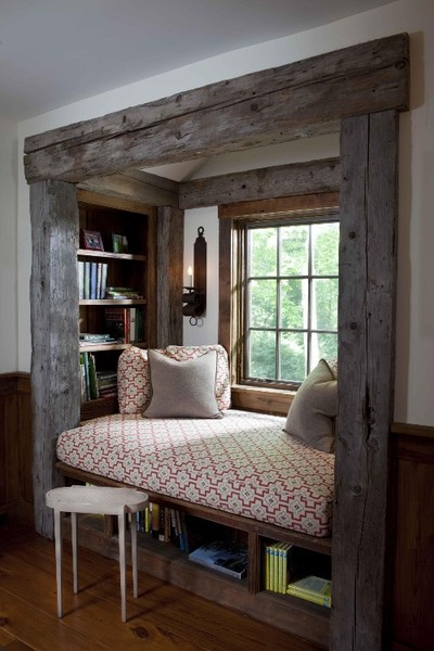 Rustic window seat
