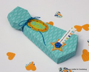 Tie Shaped Gift Box for Fathers Day. See the tutorial