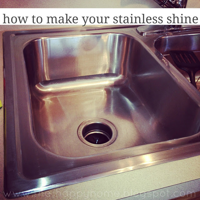 Another pinner says: I just did this to my sink and it looks just as shiny as th