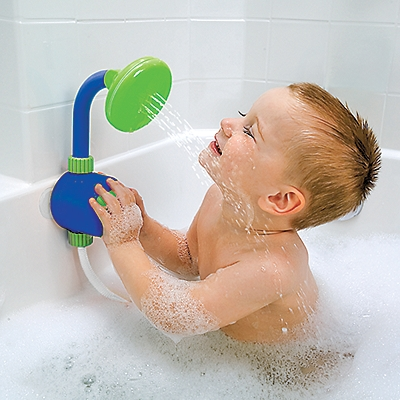 baby shower head. So much playtime without constantly running water!