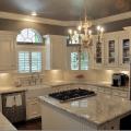 White amp gray granite white cabinets cream backsplash amp gray walls