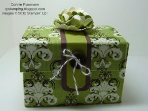 Fabric Treasure Gift Box. Learn how to make it