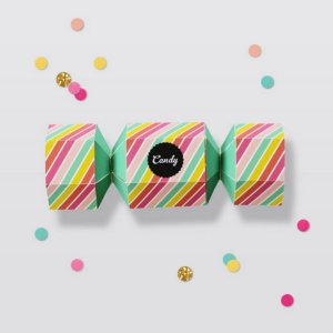 Candy Striped Favor Box. Get the tutorial
