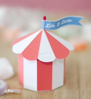 Circus Tent Gift Box. See how to make it