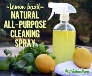 Lemon Basil Natural Cleaning Spray
