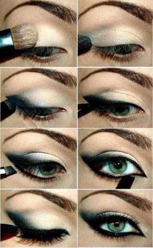 Dark Green Eye Shadow Makeup Tutorial