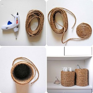 Decorate with a Rope Container
