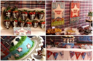 sports themed boy baby shower