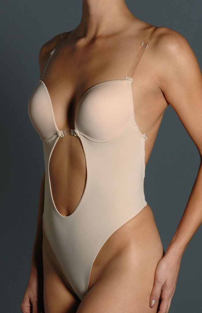 Backless g-string shapewear for backless wedding dresses.