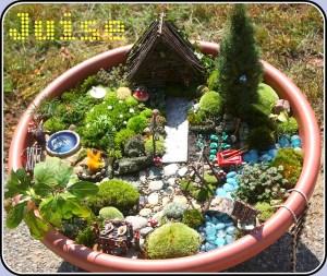A beautifully detailed fairy garden!