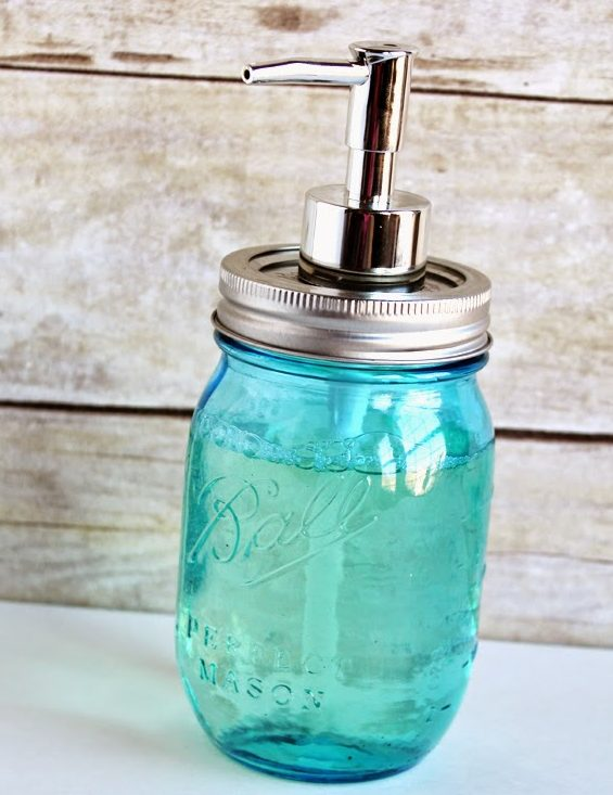 DIY Mason Jar Soap Pump