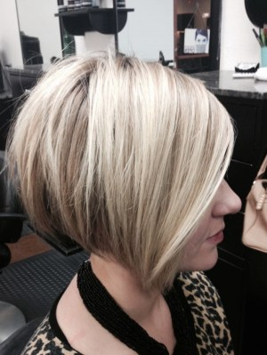 2015 Trendy Hair Color for Women Short Hair: Stacked Bob