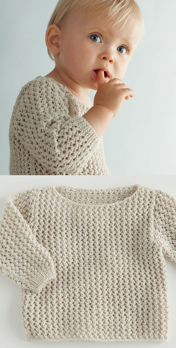 A soft spring sweater for baby