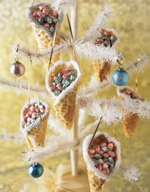 Decorated then filled with holiday treats, these nostalgic cones spread sweet holiday cheer. Instructions: How to Make Pizzelle Candy Cones