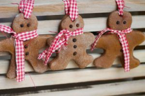 Cinnamon salt dough makes for a strong, sturdy gingerbread man. Dress him up with a checkered scarf (in case he gets cold). Get the tutorial at Where Your Treasure Is »