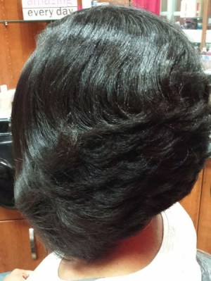 Inverted Bob with Layers for Thick Hair