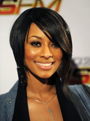Keri Hilson Alluring Inverted Bob with Bangs