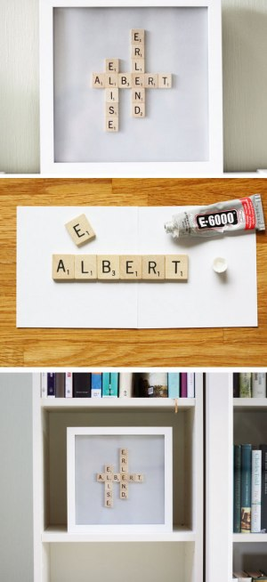 Scrabble Name Frame