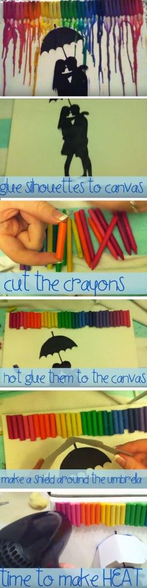 Silhouette Crayon Art