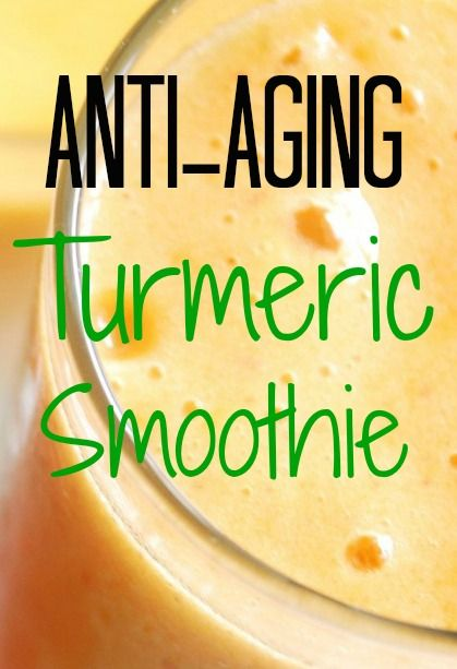 Anti-Aging Turmeric Smoothie Recipe