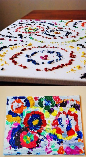 If You Have A Lot Of Broken Crayons Lying Around, Make Some Impressionist Paintings.