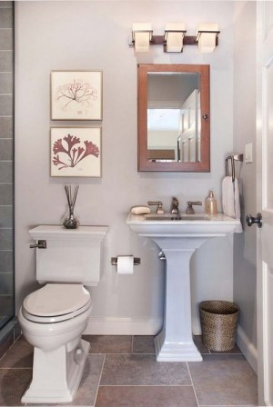 small bathroom realistic remodel.