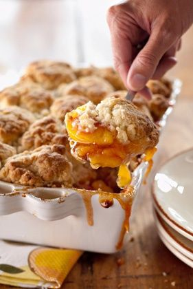 The Deen Bros Peach and Cinnamon Cobbler.   Spectacularly Southern, this cobbler