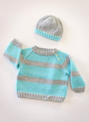 baby sweater and hat knitting pattern