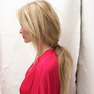 New Style with a Long Ponytail