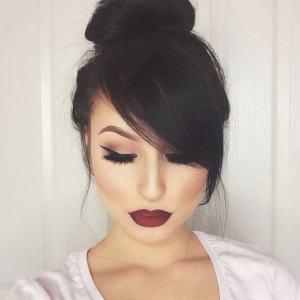 Dramatic Look with a Pretty Bun