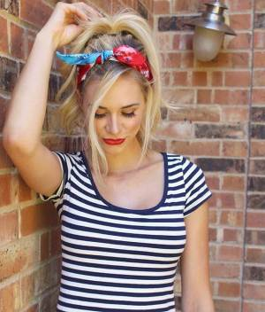 Fun Look with a Tie-Dyed Bandana