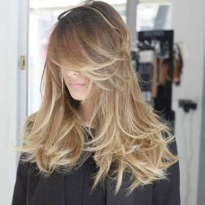 Beautiful Highlights Swept to the Side