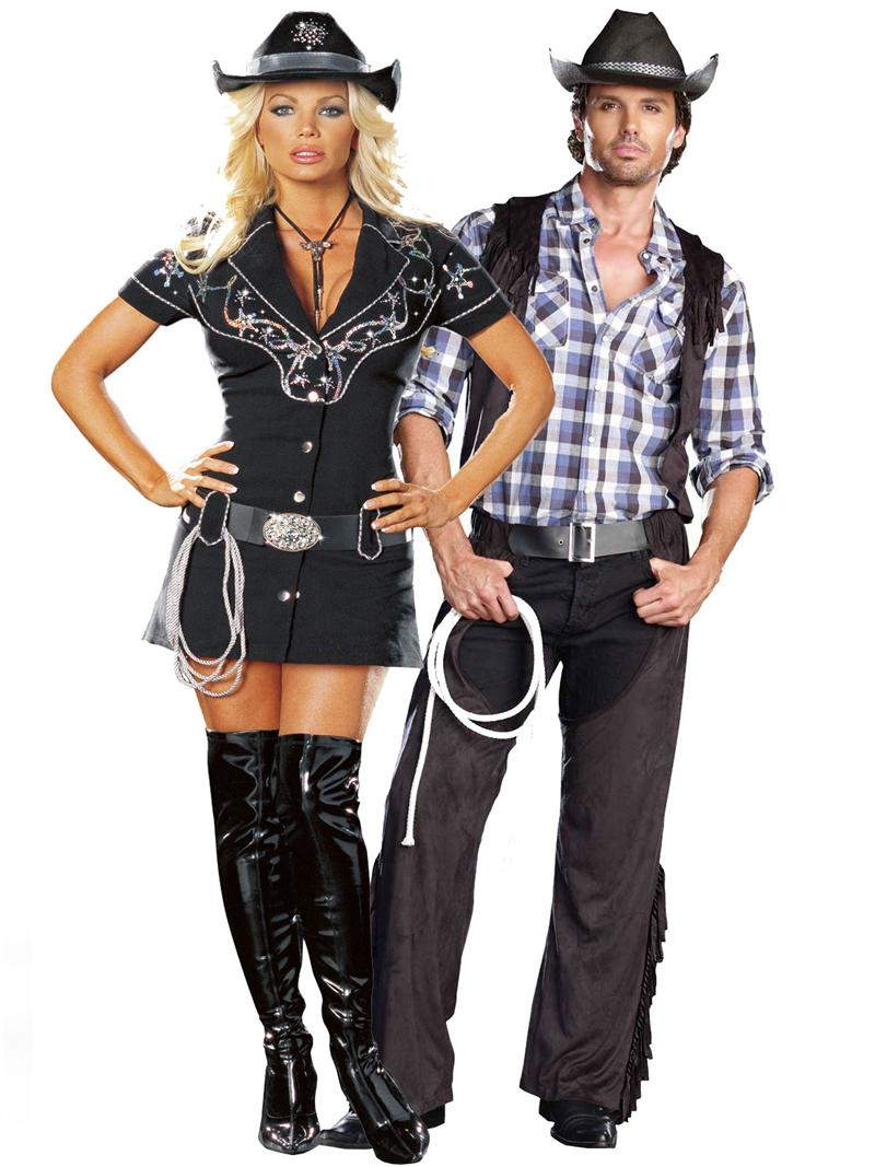 Cowboy & Cowgirl Couple Costume.