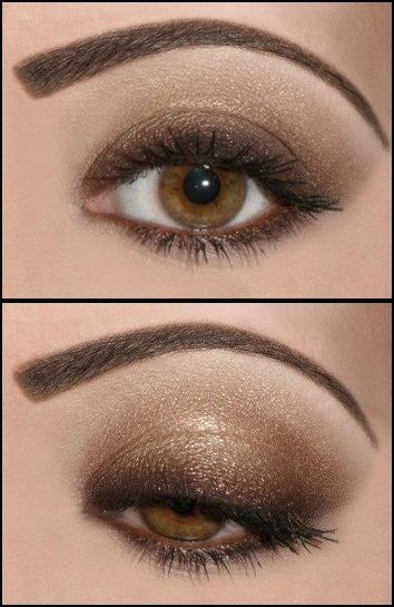 Different way to put on eyeshadow than what I'm used to.