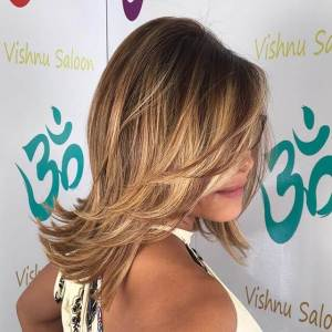 Nice Layered Haircut with Bangs