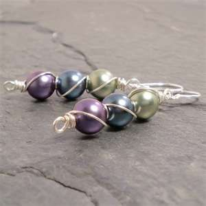Love wire wrap earrings