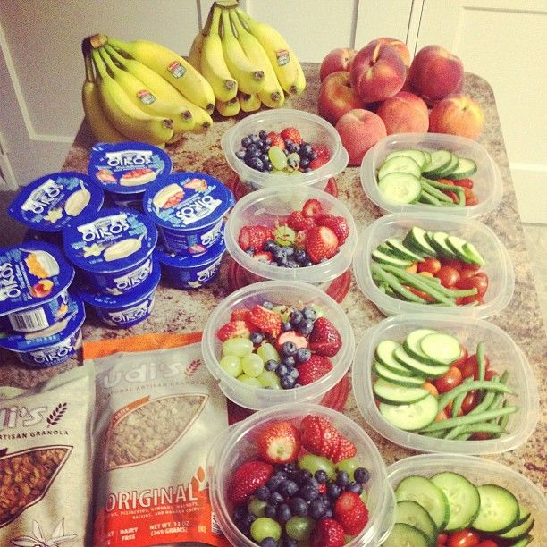Pre pack fruit for lunches for the week.