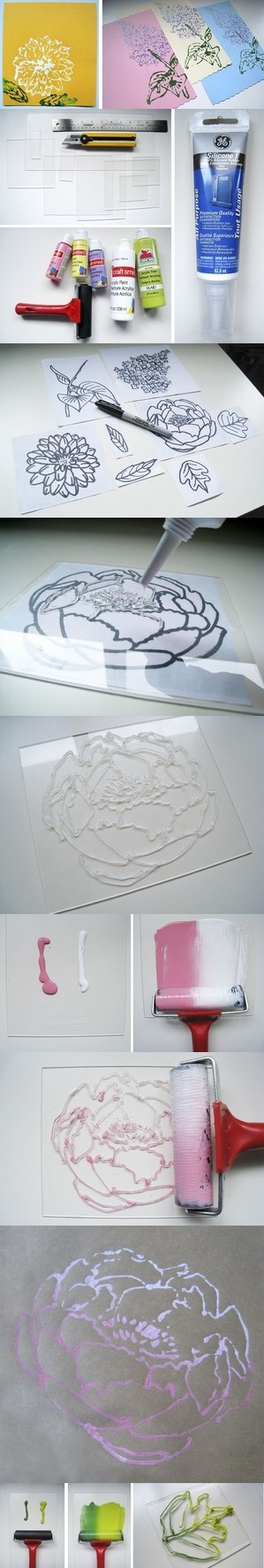 hot glue prints